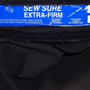 Sew In Interfacing - Black - Extra Firm