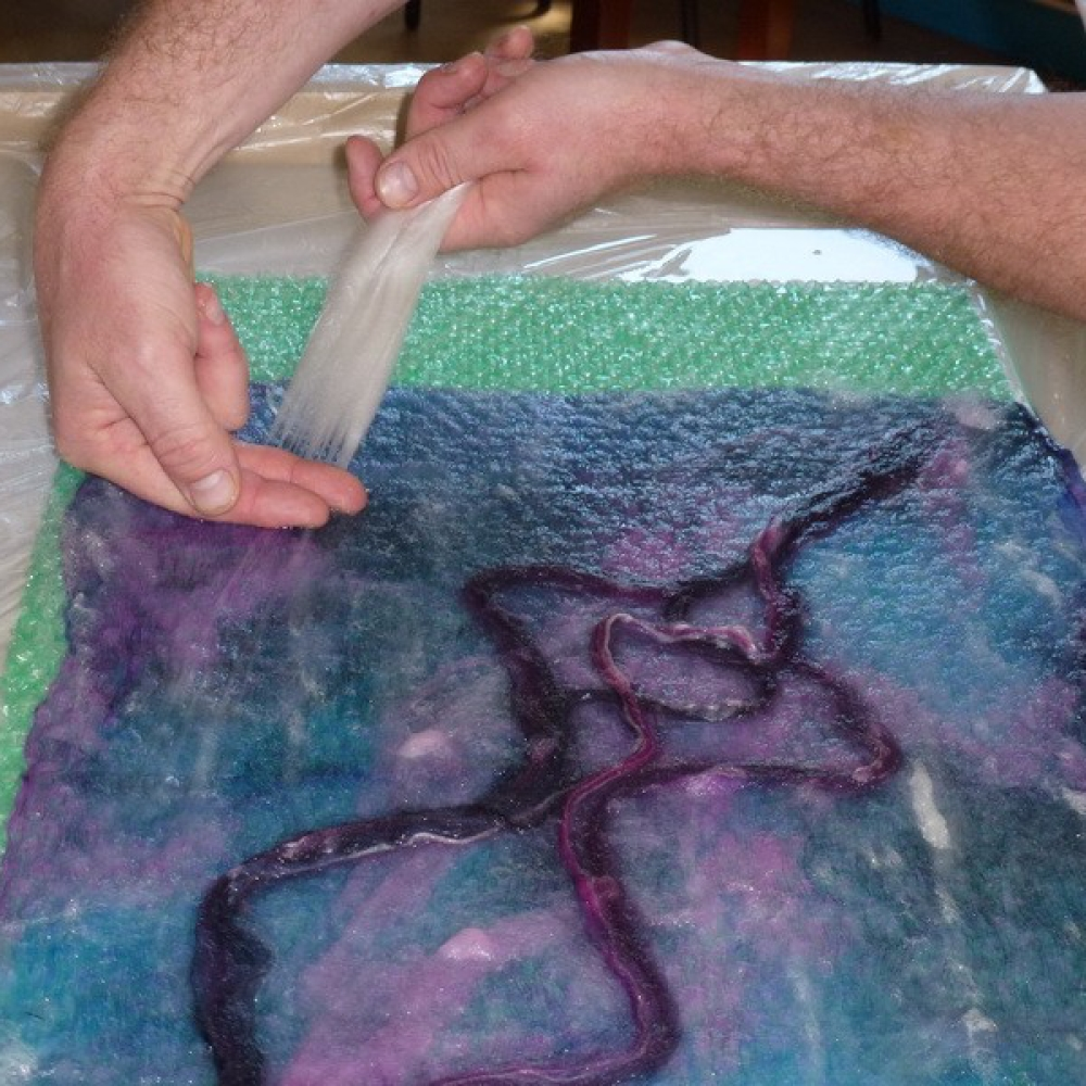nuno felting adding design