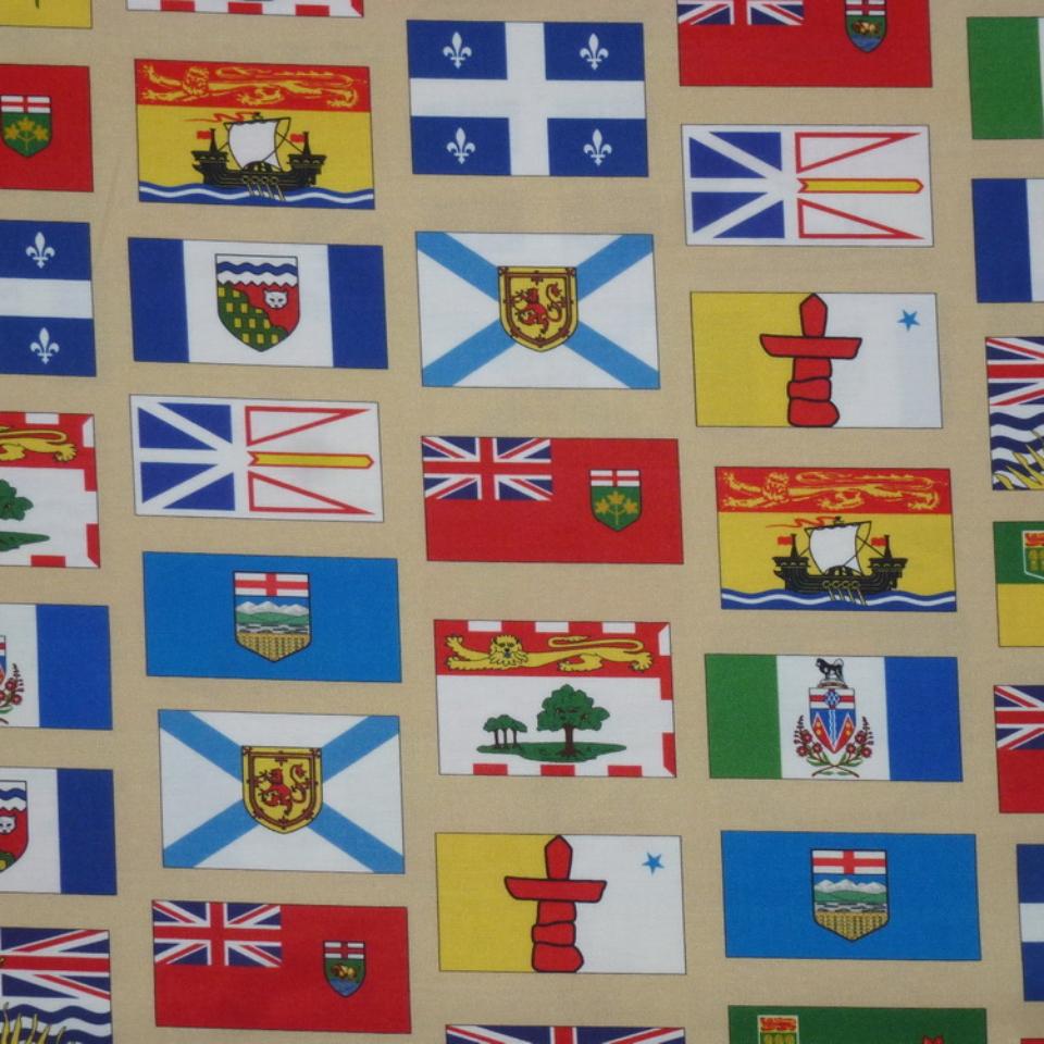canada 150 provincial flags