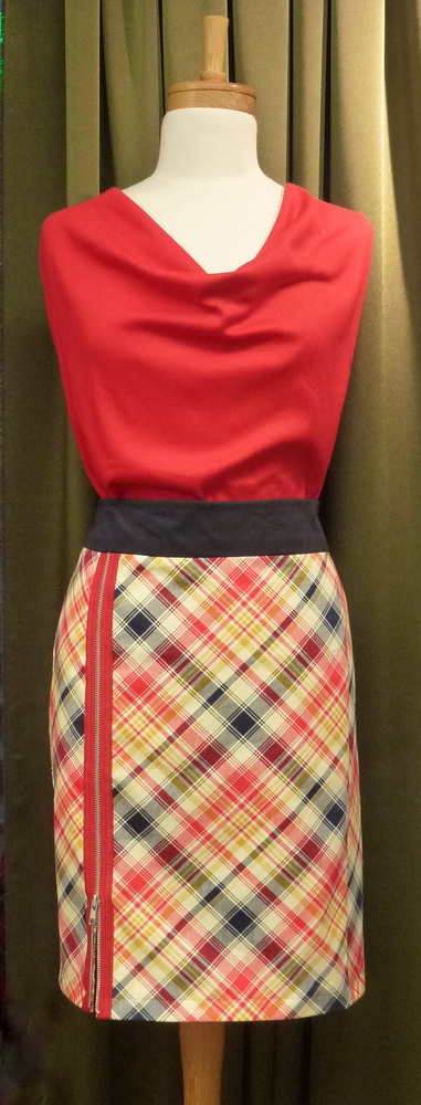 how to cut out a sewing pattern on plaid cotton
