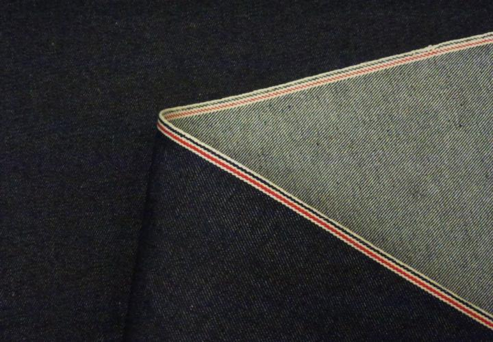 selvedge denim red white and blue